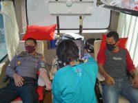 Peringati HUT Bhayangkara ke-74, Polres Polman Gelar Donor Darah