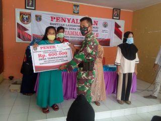 Babinsa Jajaran Kodim 1402/Polmas Aktif Kawal Penyaluran BLT DD Hingga ke Pelosok
