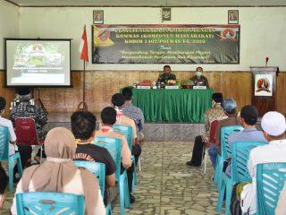 Dandim 1402/Polmas : Komsos Bertujuan Tingkatkan Hubungan Warga-TNI AD