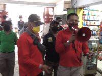 Satgas Wonomulyo Sosialisasi Rencana Penutupan Pasar dan Razia Warga Tidak Bermasker