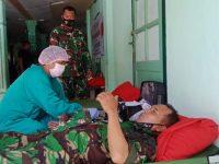 TNI di Polman Gelar Aksi Sosial Donor Darah