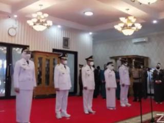 Gubernur Sulbar Lantik Bupati-Wakil Bupati Tiga Kabupaten