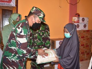 Dandim 1402/Polman Bantu Korban Bencana di Desa Riso-Polman