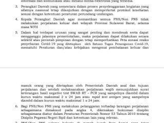 Pemprov Sulbar Berlakukan WFH sampai 30 Juli