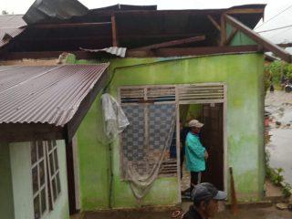 Dua Rumah Warga Kebunsari-Wonomulyo Rusak Diterjang Angin Kencang